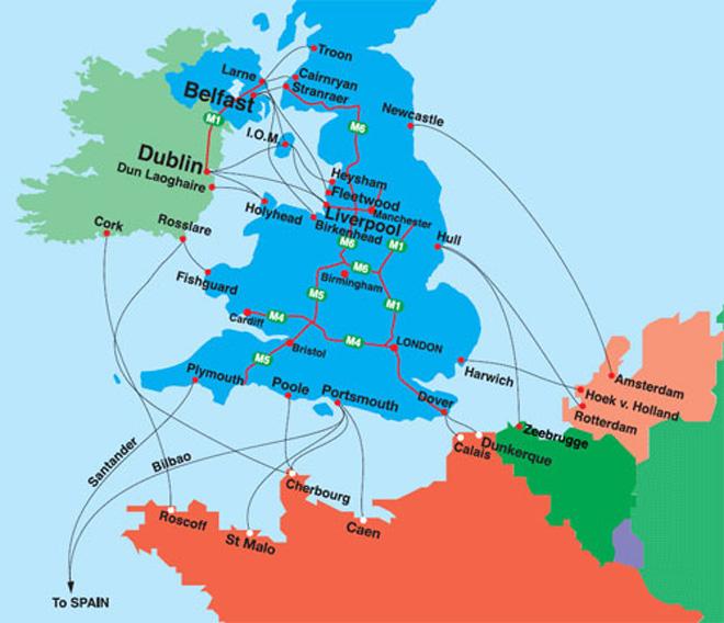 Calais Europe Map.Motor Tours